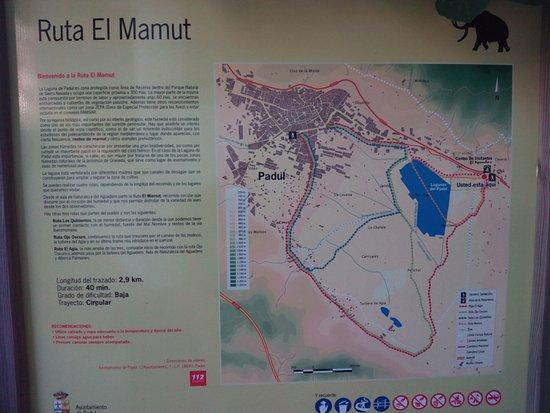 Padul, Spania: Mapa/Información en exterior del Aula