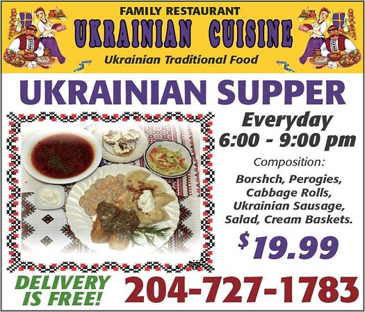 Brandon, Kanada: Ukrainian supper