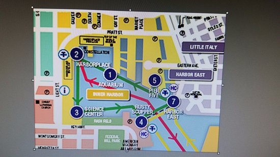 Baltimore Water Taxi Map Water Taxi map   Rusty Scupper Stop #4   Picture of Rusty Scupper