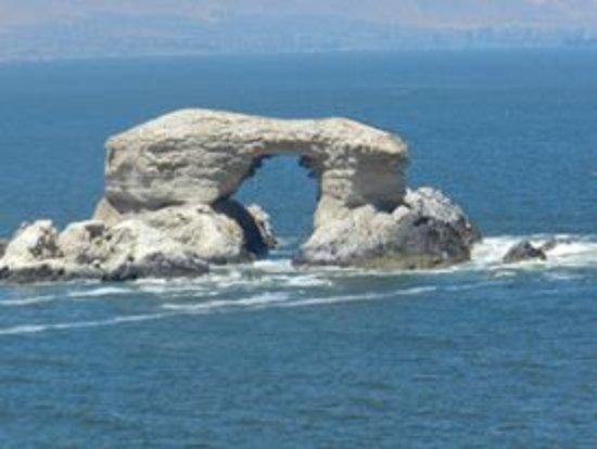 La Portada: Foto aumentada de la imponente Portada de Antofagasta