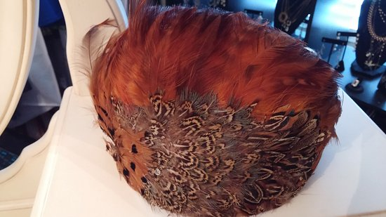 La Grange, TX: Beautiful feather hat purchased from the store