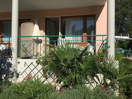 Hotel & Spa Cacciatori : le balcon de notre chambre