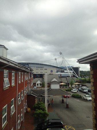 Bolton, UK: Very close to ground and retail park.
