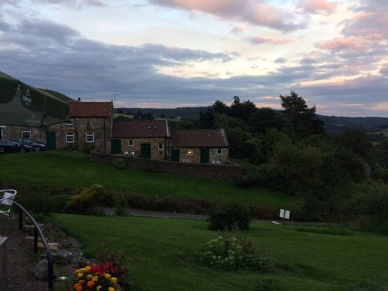 The Inn at Hawnby: Dusk view from the terrace