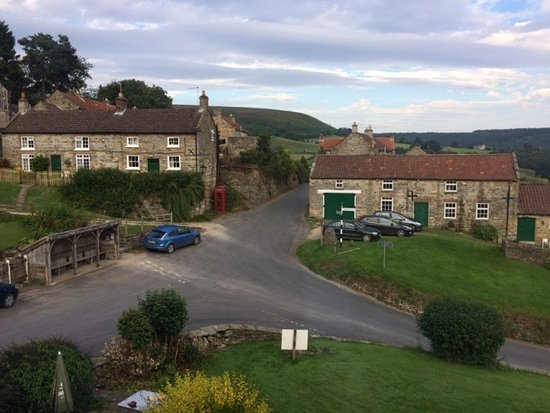 The Inn at Hawnby: Evening view from the terrace