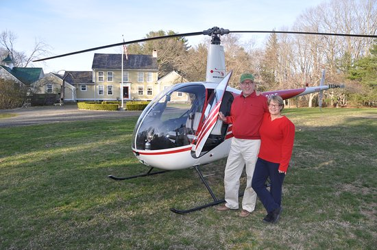 Haddam, CT: Guests Arrived via Helicopter at the B&B
