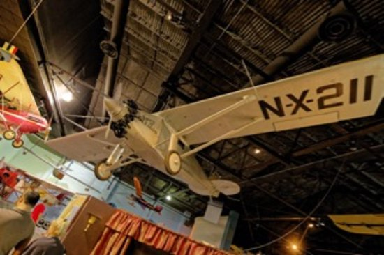 Cradle of Aviation Museum: Replica of The Spirit of St Louis used for the flying scenes in the movie with James Stewart