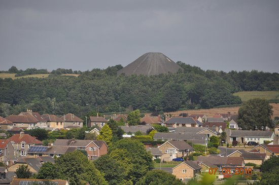 Midsomer Norton, UK: View from the train - no it's not a volcano