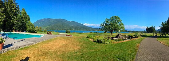 Harrison Mills, Canada: View from the patio