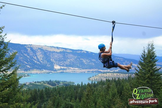Oyama, Canadá: great view from the zip-line