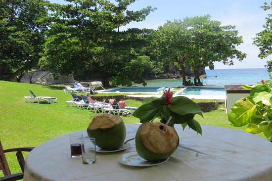 The Resort at Wilks Bay: Our view every breakfast, lunch and dinner - heaven