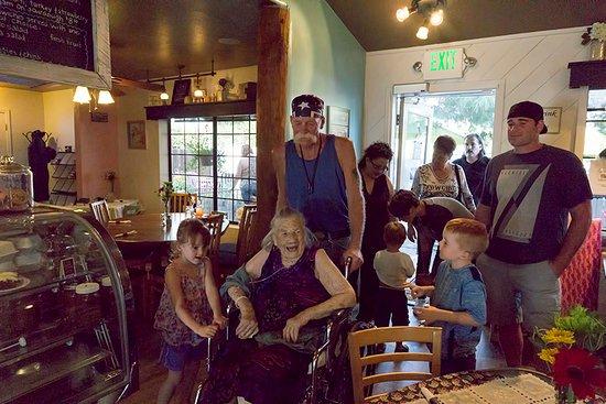 Prescott Valley, AZ: Mom arriving for her surpirse birthday party at Blackboard Kitchen.