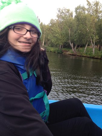 Nikiski, AK: On the lake via paddleboat!