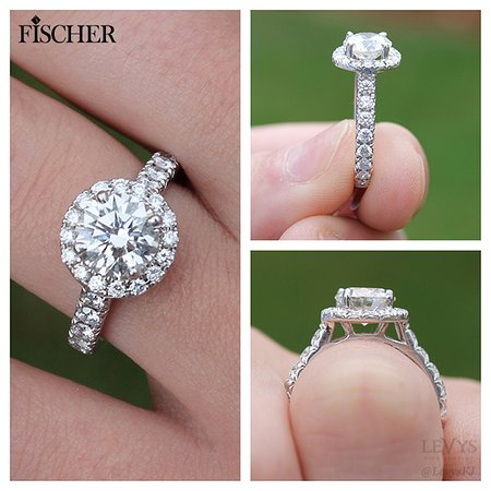 Fischer Jewelry Design engagement ring Picture of Levys Fine