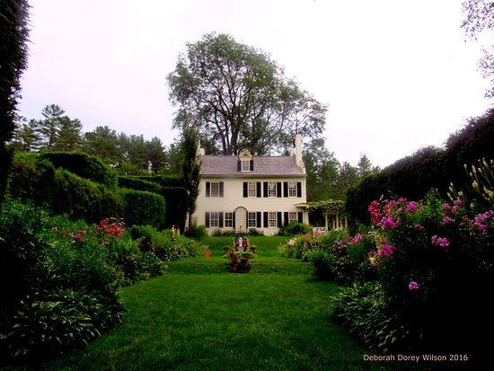 Cornish, NH: The main home at the Saint-Gauden's National Historic Site.. surrounded by beautiful formal gard