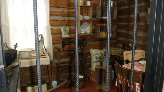 Log Cabin Sewing/Dining room - Picture of Old Trail Museum ...