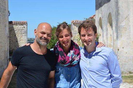 Saint-Romain, Frankreich: Joss Genestet et nous deux.