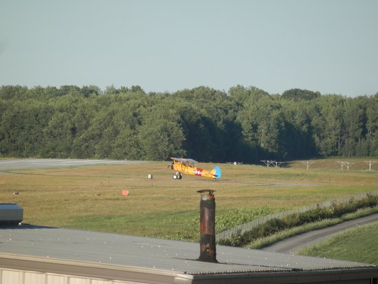 Saint Marys, PA: Stearman run-up seen from the outside dining area.