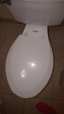 Holiday Inn Express Atlanta-Emory University Area: Toliet seat installed on crooked