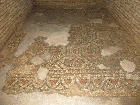 Mosaic floor, basement, Casa Andalusi