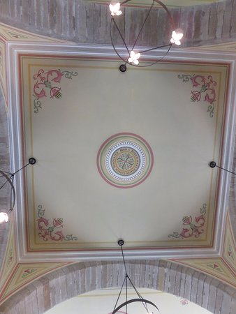 Burntisland, UK: painted ceiling