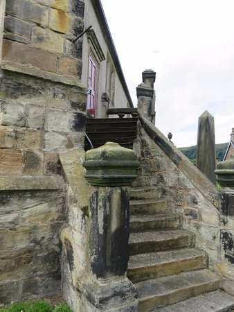 Burntisland, UK: stairs up to the Sailors gallery