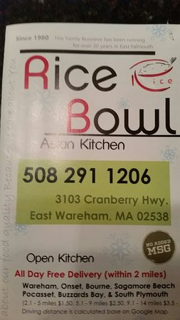 East Wareham, MA: Rice Bowl Asian Kitchen