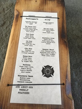 Roscoe, NY: Cocktail menu