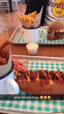 Diner Dog With Added Pulled Pork Skinny Fries And Insanity