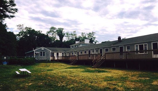 Olde Tavern Motel & Inn: view of backyard & nice refinished decks