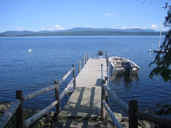 Niboban Sporting Camps: Looking north across Rangeley Lake