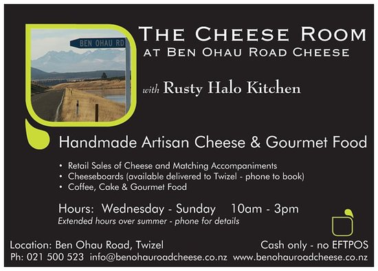 Twizel, نيوزيلندا: Cheese Room Information