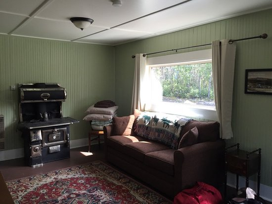 McCarthy, AK: Living room with fold-out couch