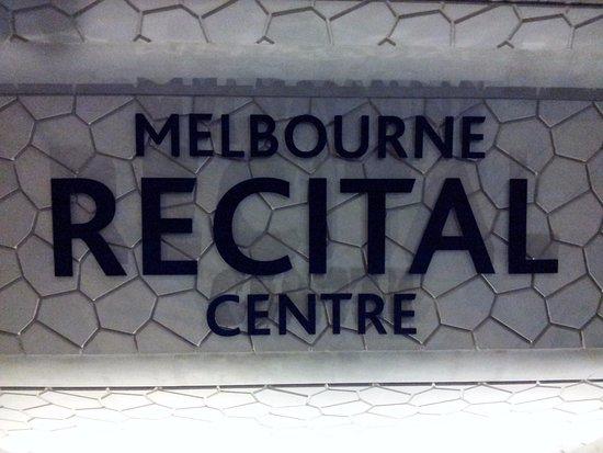 Melbourne Recital Centre: Signage