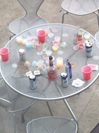 """hotelVetro: studio suites & convention center: """"Party Balcony"""" at the Vetro--Morning After Close UP"""