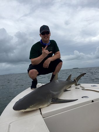Great day catching Lemon Sharks and Barracuda on the flats!   Capt. Mo Rocks! Pictures say 1000
