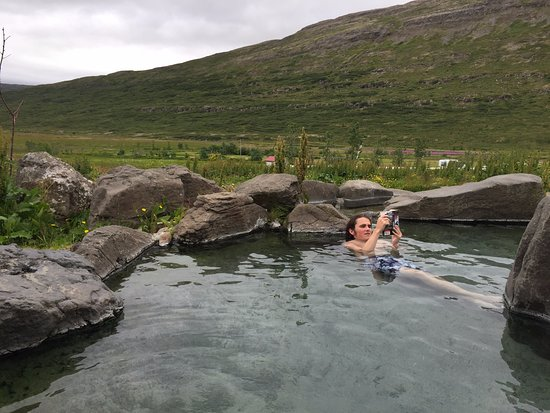 Heydalur Guesthouse: artificial pool with geothermal hot water--very relaxing!