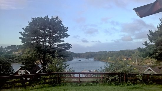Tregde, Noruega: Aussicht aus unserem Cottage