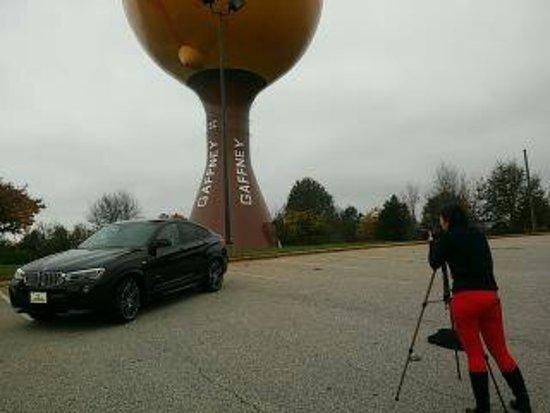 Gaffney, Carolina Selatan: Desde el estacionamiento del restaurante aledaño