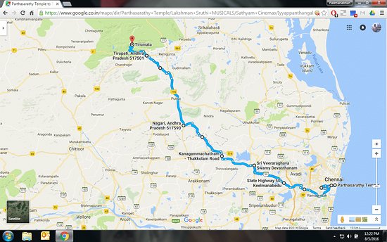 route map from chennai to tirupati Picture of Tirumala Temple