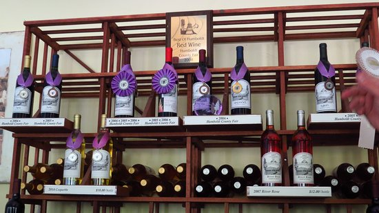 Myers Flat, Kalifornien: Award winning wines