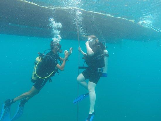 Simpson Bay, St. Maarten-St. Martin: Goed begeleid tijdens de duik!