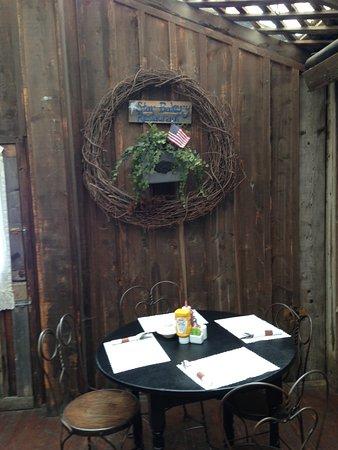 Virginia City, MT: our quaint table..