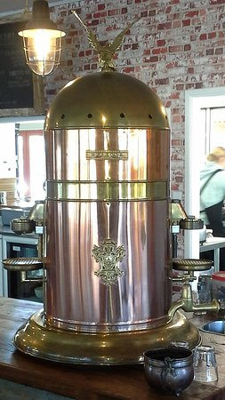 Pirongia, Neuseeland: Vintage Elektra espresso machine