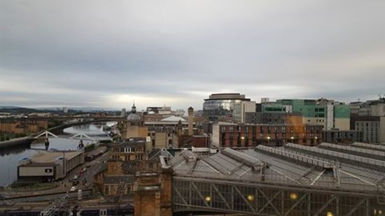 Jurys Inn Glasgow: Campsie Hills in the distance.