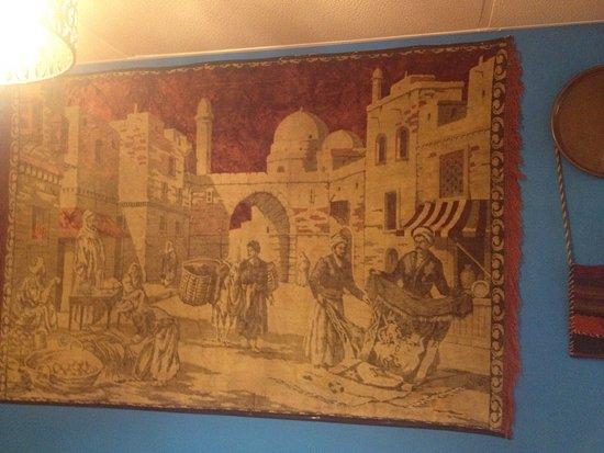 antic wall rug 1960's