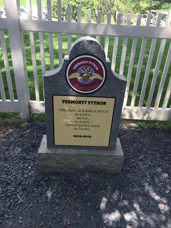 Waterbury, VT: From the Graveyard, Vermonty Python.