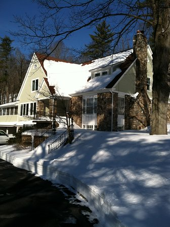 Granby, MA: The White Rose in winter