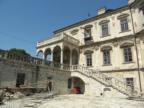 Pidhirtsi Castle: The courtyard