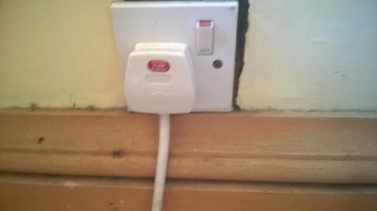 Ardgowan House Hotel: Dangerous looking socket